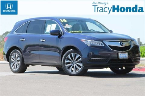 Pre-Owned 2016 Acura MDX 3.5L 9-Speed Automatic with Navigation & AWD